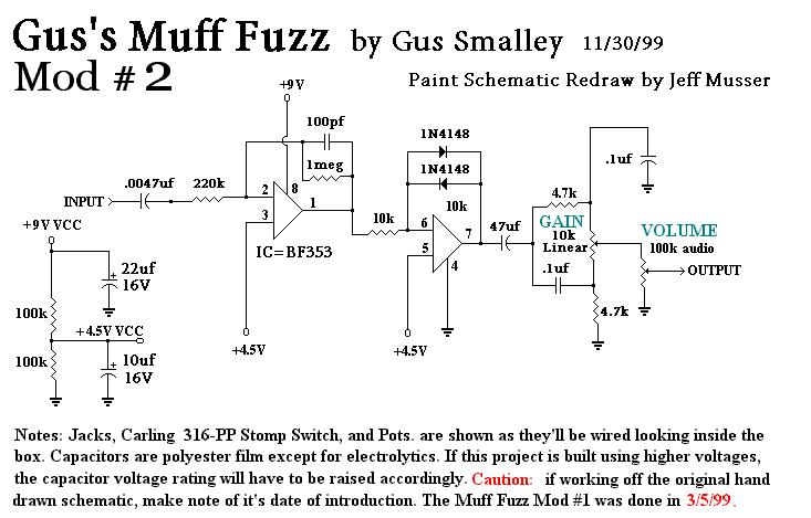schematics general guitar gadgets Auto Wiring Diagrams gus\u0027 ic muff fuzz mods 2